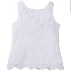 Kate Spade Big Girls White Eyelet Sleeveless Top